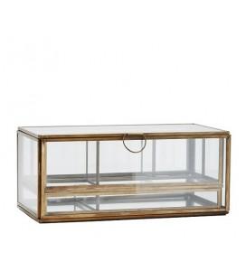 Boîte à bijoux verre et laiton avec plateaux  Madam Stoltz
