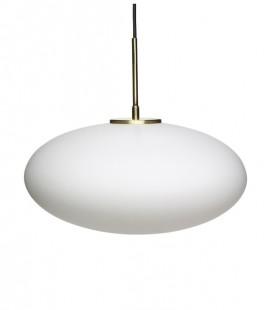 Suspension Verre blanc  & Laiton - 40 x 32 cm - Hubsch