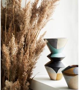 Vase L - Gris, noir, nude, moutarde, vert - 15x25,5 - Madam Stoltz