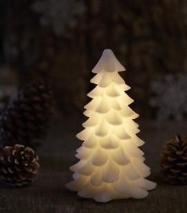 Carla Tree PM - Sapin de Noël LED blanc - avec cire - 16 cm - Sirius