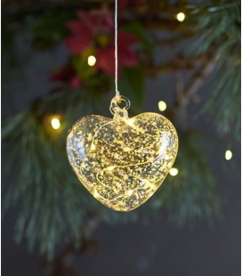 Romantic Heart - déco LED Coeur - Verre - 10 cm - Sirius