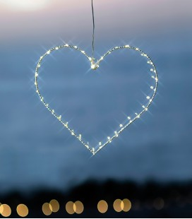 Liva Heart S - Suspension Coeur 40 LED - 26 cm  - Blanc - Sirius