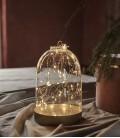 Bianca S - Dome Or  avec guirlande 20 LED - 19 cm - Sirius