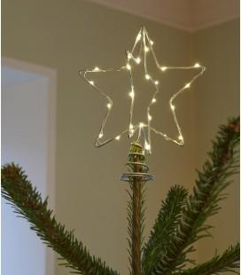 Etoile Argent LED pour sapin - Christmas top - Sirius