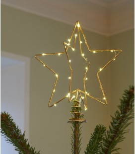 Etoile dorée lumineuse pour sapin - Christmas top - Sirius