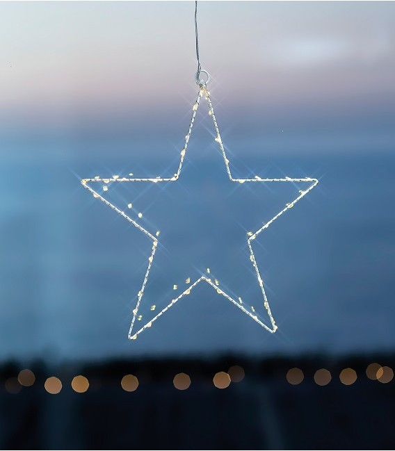 Liva Star S - Suspension Etoile 40 LED blanche - Sirius