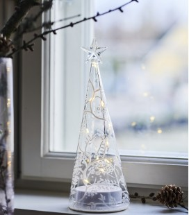 Cozy Tree S - Sapin LED en verre - 22 cm  - Sirius