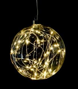 Glitter - Suspension Boule guirlande LED - D15 transparente