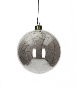 Glitter - Suspension Boule lumineuse - 12 cm -  Verre fumé