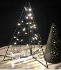 Glitter - Sapin LED cadre métal noir - 20x25 cm - Pomax
