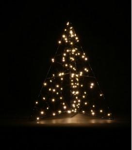 Glitter - Sapin LED - 40x50 cadre métal noir - Pomax