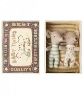 Bébés Souris - Jumeaux avec boîte - Maileg