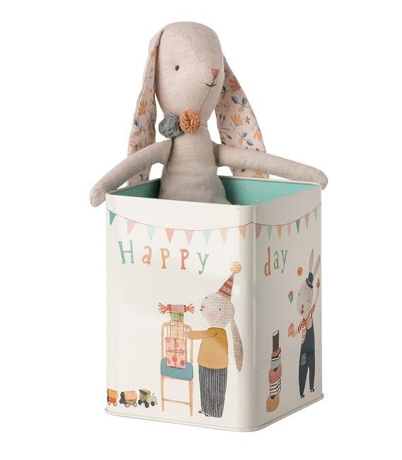 Lapin Happy Day avec boîte métal - Maileg