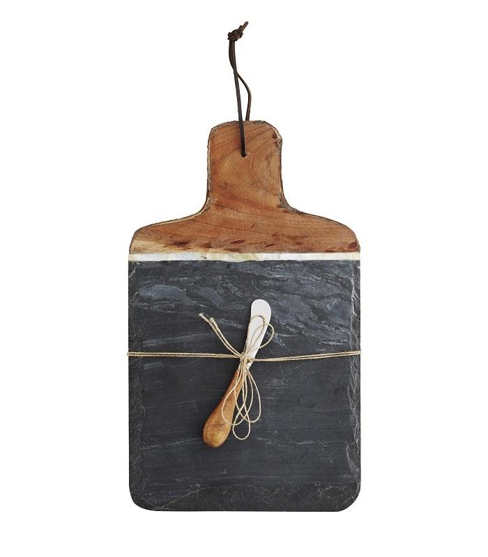 Planche d couper ardoise et bois d 39 acacia for Planche ardoise cuisine