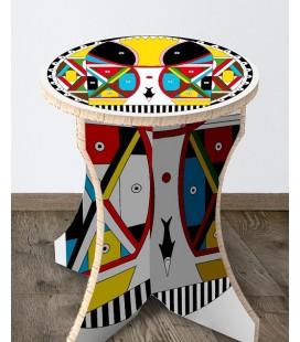 Tabouret Amazonia en carton alvéolaire – Christelle Gossart