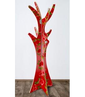 Arbre bohème rouge en carton alvéolaire – Christelle Gossart