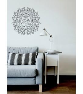 Sticker mural mandala Ganesha
