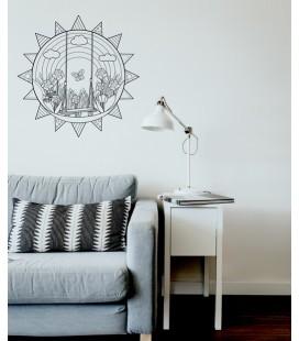 "Sticker mural mandala ""la balançoire"""