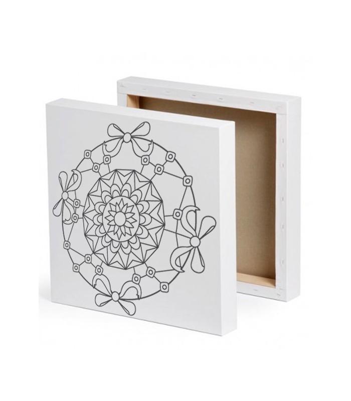 mandala peindre sur toile emilie. Black Bedroom Furniture Sets. Home Design Ideas