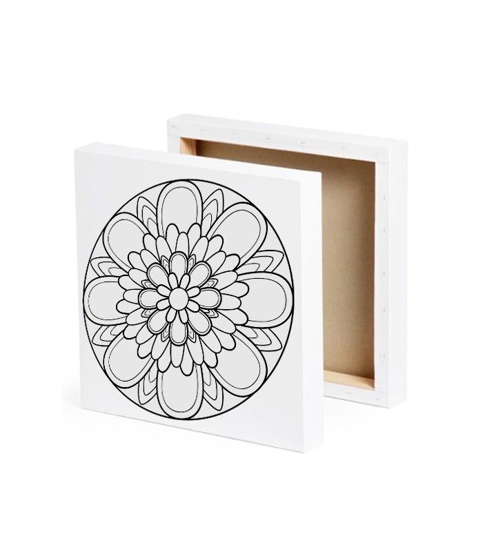 mandala peindre sur toile marguerite. Black Bedroom Furniture Sets. Home Design Ideas