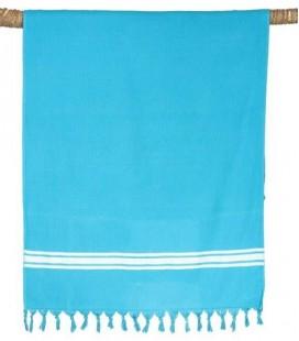 Fouta Drap de Bain - Pestamal Uni Turquoise 90x180 - Harmony