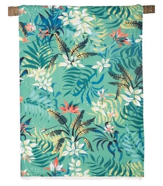 Fouta Drap de Bain - Kikoy Tropic Paon- 90x170 - Harmony