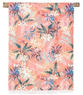Fouta Drap de Bain - Kikoy Tropic Tomette 90x170 - Harmony