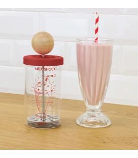 MILKSHOCK - Set Shaker à Milkshake + 2 verres - Cookut