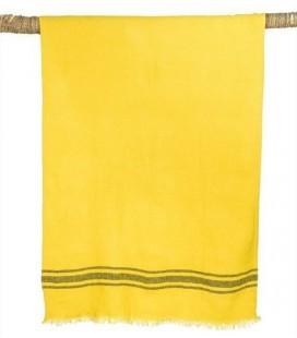 Drap de Bain en lin lavé - KUTA Curry 80x190 – Harmony