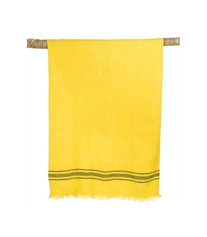 drap de bain en lin lav kuta curry 80x190 harmony. Black Bedroom Furniture Sets. Home Design Ideas