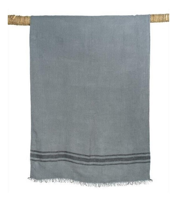 Drap de Bain en lin lavé - KUTA Gris 80x190 – Harmony