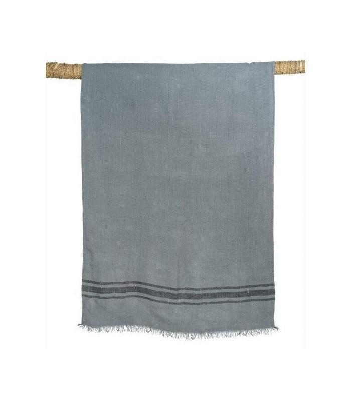 drap de bain en lin lav kuta gris 80x190 harmony. Black Bedroom Furniture Sets. Home Design Ideas