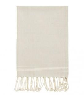Essuie-mains - torchon - taupe et blanc - Madam Stoltz
