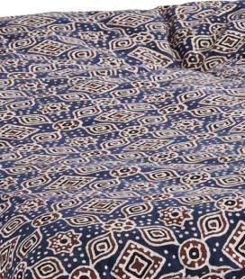 Matelas Bleu et Rouille en coton, 70x180 – Madam Stoltz