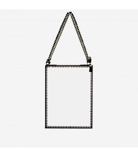 Miroir suspendu métal noir – 15 x 20 cm – Madam Stoltz