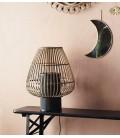 Lampe à poser Bambou, socle métal noir - 37,5x47,5 - Madam Stoltz