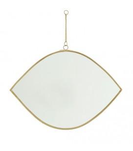 Miroir suspendu - Oeil - Laiton - L : 26 cm - Madam Stoltz