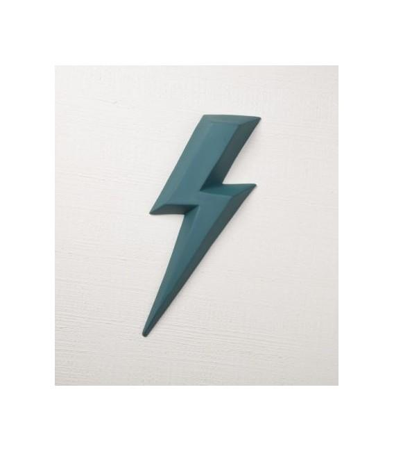 Ziggy Vert Emeraude - éclair en céramique - Monochromic