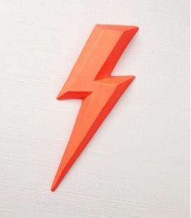 Ziggy Rouge fluo - éclair en céramique - Monochromic