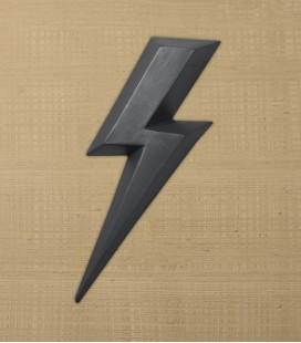 Ziggy Charbon - éclair en céramique - Monochromic