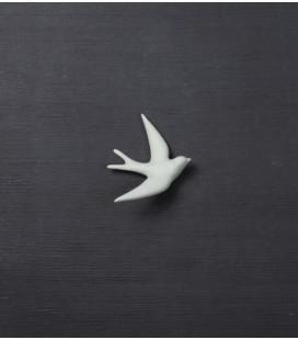 Volage Gris Vert - Hirondelle en céramique - Monochromic