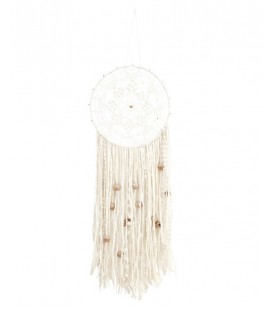 Attrape-rêves blanc avec perles Madam Stoltz