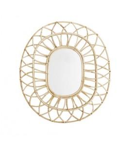 Miroir ovale en rotin Madam Stoltz