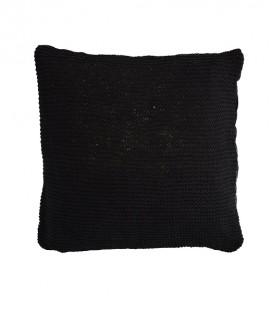 housse de coussin en tricot, coloris noir, 80x80