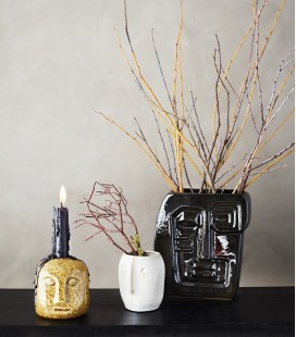 Vase Noir visage - Madam Stoltz