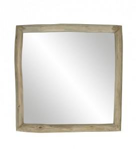 INSULA - Miroir S - teck naturel - 40x40x5