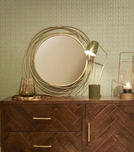 SLING - Miroir métal doré - D : 67 cm - Pomax