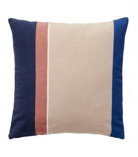 Coussin Bleu, Beige, Rose & Blanc 50x50 - coton - Hubsch