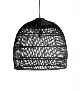 Suspension Rotin noir - D : 53 x 49 - SIMLA