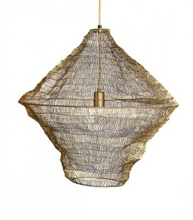 Suspension laiton filet de pêche - 60x60